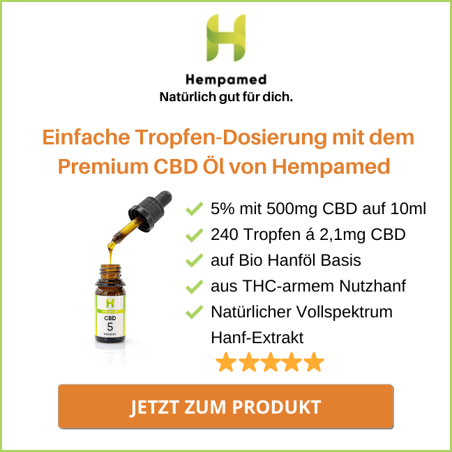 Das Nr. 1 Premium CBD Öl von Hempamed